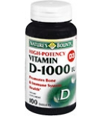 Natures Bounty Vitamin D 1000 IU Soft gel Tablets - 100