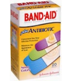 Band-Aid Plus Antibiotic Bandages Neon Colors Assorted Sizes  20ct****OTC DISCONTINUED 3/5/14