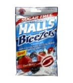 Halls Breezers Non-Mentholated Sugar Free Cool Berry 20 Drops