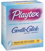 Playtex Gentle Glide Tampons Unscented Regular Absorbency - 18- BACK ORDERED 8-29