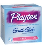 Playtex Gentle Glide Tampons Unscented Super Absorbency - 36