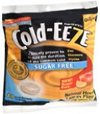 Cold-Eeze Cold Remedy Lozenges Sugar Free Natural Honey Lemon Flav Bag 18ct
