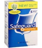 Safeguard Deod Antibacterial Deod Soap 4-Pack 4.3-Ounce Bars White