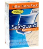 Safeguard Deod Antibacterial Deod Soap 4-Pack 4.3-Ounce Bars Beige