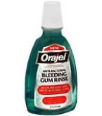 Orajel Anti-Bacterial Bleeding Gum Rinse  16 oz