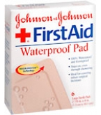 Johnson & Johnson First Aid Waterproof Pads 2-7/8 In X 4 In  6ct