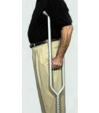 Endurance Alum Tall Adult Crutches - 5 foot 10 in to 6 foot 6 in Tall W4003