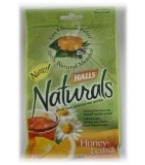 Halls Naturals Menthol Cough Supressant Honey-Lemon Chamomile Cough Drops 25 Ct.