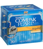 Tampax Compak Pearl Tampons Regular Absorbency - 20