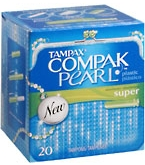 Tampax Compak Pearl Tampons Super Absorbency - 20****OTC DISCONTINUED 2/28/14