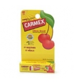 Carmex Cherry Flavored Lip Balm with SPF 15 Click Stick .15 oz- 12/Box