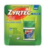 Zyrtec Allergy 10mg Tablets 30ct.