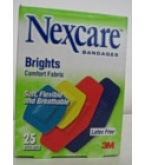 Nexcare Bandages Brights Comfort Fabric Assorted 25ct