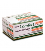 "SureComfort Insulin Syringe 30 Gauge, 1cc, 1/2"", 100 Count"