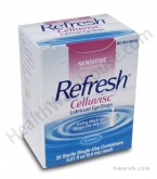 Refresh Celluvisc Lubricant Eye Drops (0.01 fl oz) - 30 Single Use Containers