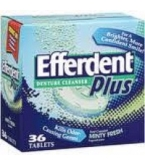 Efferdent Plus Denture Cleanser Minty Fresh - 36 Tablets