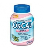 Os-Cal 500mg Calcium 600 IU Vitamin D3 Coated Caplets 120ct