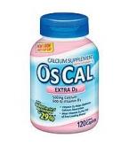 Os-Cal 500mg Calcium 600 IU Vitamin D3 Coated Caplets 120ct