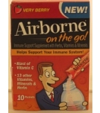 Airborne On The Go! Immune Support Supplement Very Berry Packet 10ct