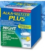 Alka-Seltzer Plus Night Cold Formula Lemon Effervescent Tabets 20ct****OTC DISCONTINUED 3/3/14