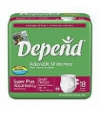 Depend Adjustable Underwear Super Plus Absorb Sm/Med 28-45 inches 72/Case
