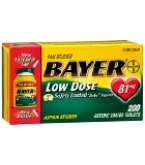 Bayer Low Dose Safety Coated Baby Aspirin 81mg Coated Tablet 200ct