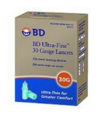 BD Ultrafine 30 Gauge Blood Glucose Lancets 100/Box