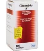 Chemstrip K Urine Test Strips 100/Box