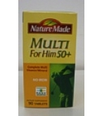 Nature Made Multi For Him Tablets 50+  Complete Multi Vitamin/Mineral 50ct