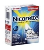 Nicorette 2mg Coated Tablets White Ice Mint Flavor 100/box