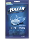 Halls Menthol Cough Suppressant/Oral Anesthetic Mountain Menthol 25ct