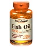 Sundown Fish Oil 1000 mg Softgels 120ct