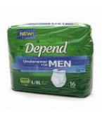 Depend Underwear Men Super Plus Absorb Large/Xlarge 38-64 inches 64/Case