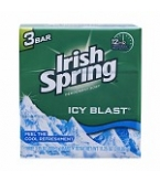 Irish Spring Deodorant Soap Clean Icy Blast Cool Refreshment  3- 4 ounce Bars