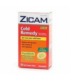 Zicam Cold Remedy Rapid Melts with Vitamin C & Echinacea Lemon-Lime Flavor 25ct