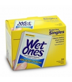 Wet Ones Antibacterial Moist Wipes Singles 24ct****OTC DISCONTINUED 2/28/14