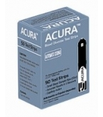 Acura Blood Glucose Test Strips - 50 Strips