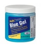 Rugby Blue Gel Muscle Pain Reliever - 8 oz Jar