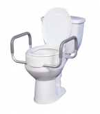 Premium Seat Riser with Removable Arms for Standard Toilets