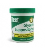 Fleet Adult Laxative Glycerin Suppositories - 50 count