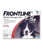 Frontline Plus for Dogs (89 - 132 lbs) - 3 Month Pack(Red)