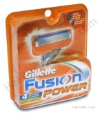 Gillette Fusion Power Razor Blades - 4 Cartridges