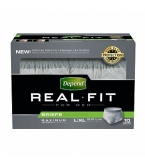 Depend Real Fit Underwear for Men Max Absorbency Gray Large/X-Large- 40/ Case