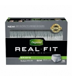 Depend Real Fit Underwear for Men Max Absorbency Gray Small/Medium- 48/ Case