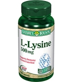 Natures Bounty L-Lysine 500 mg - 100 Tablets