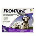 Frontline Plus for Dogs (45 - 88 lbs) - 3 Month Pack(Purple)