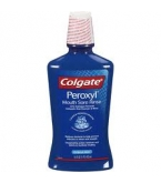 Colgate Peroxyl Antiseptic Mouth Sore Rinse - Original Mint Flavor  (16 oz Bottle)