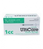 "UltiCare U-100 Insulin Syringe, 30 Gauge, 1cc, 5/16"" Short Needle - 100 Count Box"
