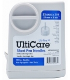 "UltiCare Pen Needle Short 31 Gauge 5/16"" - 100 Count"