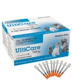 "UltiCare VetRx U-40 Insulin Syringe - 29 Gauge, 1/2cc, 1/2"" Needle - 100 Count Box"